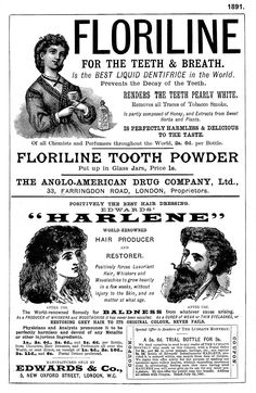1891. Page of adverts