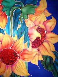 The 91 best silk painting batik images on pinterest in 2018 silk painting flowers silk painting painting pictures pictures to paint silk art painted silk painting patterns elementary art faux vitrail mightylinksfo
