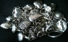 Elizabeth Vitale Silver Hearts And Stones California Poetry, Stones, Hearts, California, Reading, Rings, Floral, Silver, Jewelry