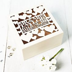 personalised heart wedding gift keepsake box by sophia victoria joy | notonthehighstreet.com