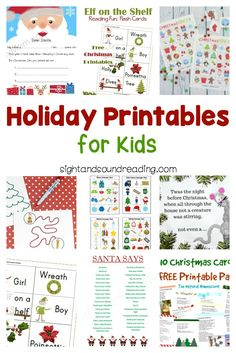 These holiday Printables for Kids are great fun for kids, parents and teachers alike! Have educational fun this holiday season! Kindergarten Reading Activities, Kindergarten Worksheets, Preschool Activities, Preschool Kindergarten, Handwriting Worksheets For Kids, Improve Handwriting, Handwriting Practice, The Night Before Christmas, Christmas Holidays