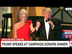 """THANK YOU BABY!"" DONALD TRUMP TO KELLYANNE CONWAY AT INAUGURAL EVE DONO..."