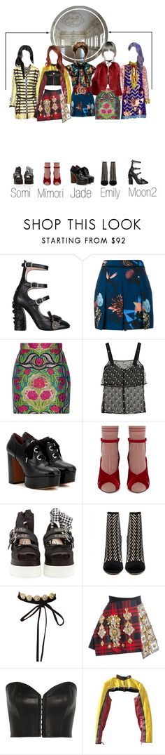"""""""SCARLET - ROYAL LIFE (왕실의 삶) Dance Part"""" by scarlet-offical ❤ liked on Polyvore featuring Gucci, Proenza Schouler, Givenchy, Marc Jacobs, Fendi, Miu Miu, FAUSTO PUGLISI, Kiki de Montparnasse and Jean-Paul Gaultier"""