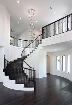 nice house interior dream homes Dream House Interior, Luxury Homes Dream Houses, Dream Home Design, Modern House Design, My Dream Home, Modern Home Interior Design, Mansion Interior, Staircase Design, Foyer Staircase