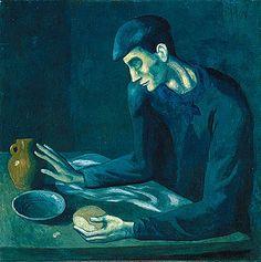 La comida del ciego de 1903, por Pablo Picasso
