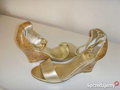 Złote sandałki GUCCI