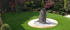 bonito diseño jardin zen roca