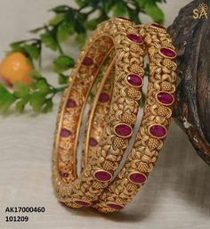 3 Pairs Big Hoop Earrings,Stainless Steel Hoop Earrings Gold Plated Rose Gold Plated Silver Hoops for Women Girls,Hypoallergenic Colors Set) – Fine Jewelry & Collectibles Gold Bangles Design, Gold Earrings Designs, Gold Jewellery Design, Designer Jewelry, Gold Wedding Jewelry, Bridal Jewelry, Ruby Bangles, Bangle Bracelets, Golden Jewelry