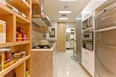 Decoração: 20 cozinhas pequenas - Cores da Casa. Painel cozinhando decoração