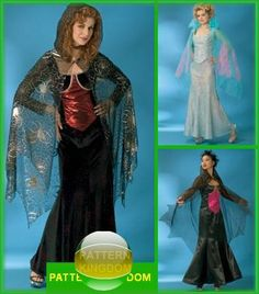Simplicity 4956 Gothic Wicca Witch Cape & Dress Patterns