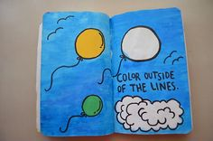 Wreck This Journal wtj - color outside of the lines