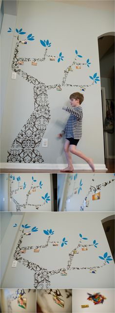 Cute family tree idea - need a big wall to pull this off but clever nevertheless!