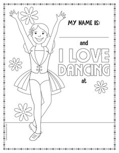 Get FREE Printable Dance Coloring Pages!