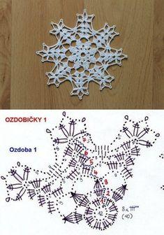 Crochet Snowflake Pattern, Crochet Stars, Crochet Snowflakes, Thread Crochet, Crochet Motif, Crochet Doilies, Crochet Flowers, Crochet Stitches, Crochet Patterns
