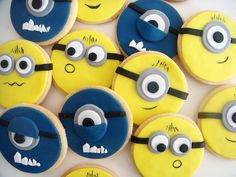Minyon'lar Minions Temalı Butik Doğumgünü Kurabiyeleri.! Minions cookies.!
