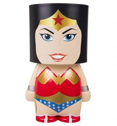 Get your golden lasso round this quirky #superhero #lamp, styled on the Amazonian warrior princess herself #WonderWoman! Her charm and allure (well, and the LEDs of course!) are sure to light up any room - you'll be receiving compliments aplenty from fellow fans of POWerful ladies in no time... xoxo