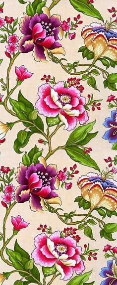 There is another craze is to draw patterns, flowers, mandala patterns in ink. Then you can even color them using color pencils. You can say this is like adult drawing at its best! Design Floral, Motif Floral, Floral Prints, Floral Fabric, Surface Pattern Design, Pattern Art, Textile Patterns, Flower Patterns, Textiles