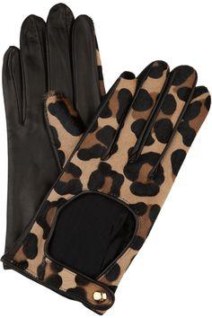 Leopard driving gloves<3