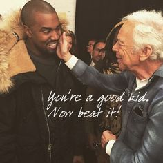Kanye West getting #sonned by old man Kev