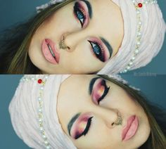 Pretty Pink Makeup #eyeshadow #eyemakeup  #blackliner - bellashoot