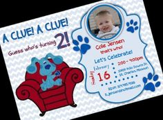 Blues Clues Thinking Chair Birthday Party Invitation