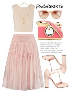"""In pink we trust!"" by alaria ❤ liked on Polyvore featuring Chloé, Alice + Olivia, Dolce&Gabbana and pleatedskirts"