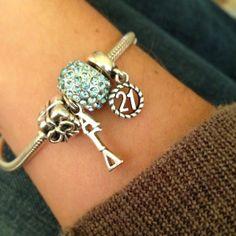 Alpha Gam Pandora bracelet