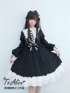Tomy Bear -St Mary's Abbey- Gothic Lolita OP Dress