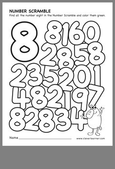 Pre K Worksheets, Printable Preschool Worksheets, Kindergarten Math Worksheets, Learning Numbers Preschool, Teaching Numbers, Online Classroom, Letter Recognition, Math For Kids, Learning Through Play