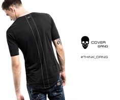black T-shirt with embroidered back detail