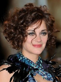 Super Short hair styles for curly hair | ... of Marion Cotillard Curly Hairstyles for Short Hair/Bauer Griffin