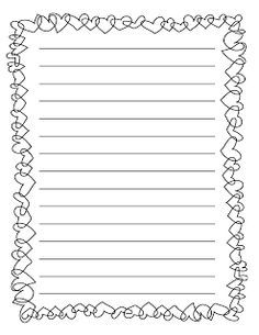 Image Result For Writing Paper Template Valentines Day