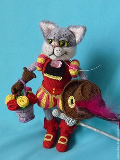 Crochet Dolls, Knit Crochet, Crochet Cats, Fun Projects, Crochet Projects, Crochet Disney, Micro Macramé, All About Cats, Amigurumi Toys