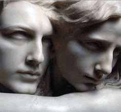 "Pietro Canonica. ""L'abisso"" (The Abyss) .Detail, 1869 ."