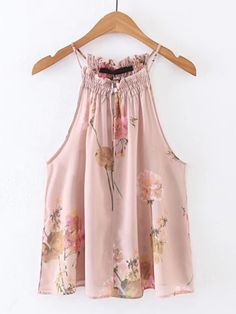 SheIn offers Sleeveless Floral Chiffon Top & more to fit your fashionable needs. Chiffon Floral, Chiffon Tops, Floral Tops, Chic Outfits, Fashion Outfits, Western Outfits, Clothing Patterns, Ideias Fashion, Girl Fashion