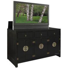 Tao Black TV Lift Cabinet Product Photo