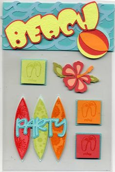 Beach Party Card Candy by cr8zyscrapper - Cards and Paper Crafts at Splitcoaststampers