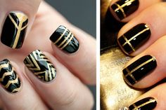 Easy DIY nail designs for New Year's Eve