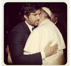 Papa Francisco y Eduardo Verastegui