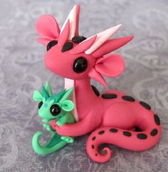 Pink Dragon & Lt. Green Baby