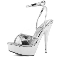 Save 10% + Free Shipping Offer * | Coupon Code: Pinterest10 Material: Man Made Material. 5.25 inches, 1.75 inch Platform True to size, Evening dress Shoes Product Code: Nicole-05 Silver color Women's Celeste Nicole-05 Silver Metallic Rhinestone straps Sandals
