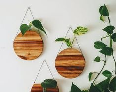 Wooden vase handcrafted decor timber decor home decor Wooden Vase, Hanging Planters, Vases Decor, Natural Materials, Office Decor, Handmade Items, Woodworking, Wood Work, Etsy