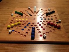 Deluxe SIX Player Solid Cherry Aggravation Game by woodcraftstore