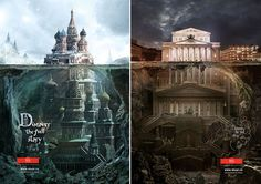 Ads Cast a Magnifying Glass on Iconic Russian Architecture