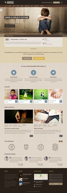 42 New Awesomely Design Premium Themes of 26 March 2015 #website - ngo templates