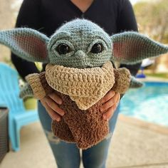 Crochet a Life-Size Baby Yoda Amigurumi, Designed By Crafty Is Cool! # life size baby yoda crochet pattern Crochet a Life-Size Baby Yoda Amigurumi, Designed By Crafty Is Cool! Crochet Amigurumi, Crochet Doll Pattern, Amigurumi Doll, Crochet Dolls, Crochet Patterns, Doll Patterns, Baby Ballon, Free Crochet, Knit Crochet