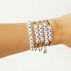 Bracelets à message / Lady / Pretty / Crazy / Lucky / Parisienne #elodietrucparis. Shop on ---> www.elodietrucparis.tictail.com