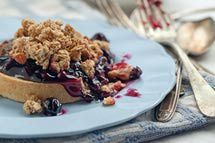 Blueberry crisp,,,,,was simple and very good.