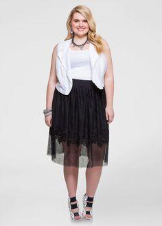Floral Appliqu Tulle Skirt  APPLIQUE TULLE SKIRT The post  Floral Appliqu Tulle Skirt  appeared first on  Vintage & Curvy .  http://www.vintageandcurvy.com/product/floral-appliqu-tulle-skirt