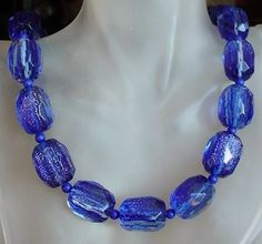 Royal Blue Gold Sand Necklace  Royal Blue Gold Sand by camexinc, $50.00